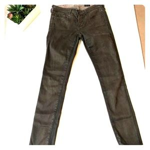 AG The Legging Super Skinny Ankle Brown Jeans